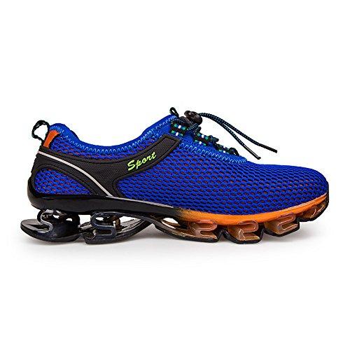Chaussures de Sport Running d'eau Homme Femme Sneakers Basses Baskets Entraînement Bleu Marine Gris Marine