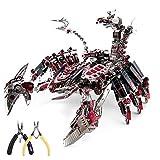 Puzzle 3D en Métal Diables Rouges Scorpion DIY Assembler Un Modèle Kits de Construction Laser Cut Jigsaw Toy