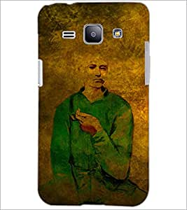 PrintDhaba Man Painting D-3255 Back Case Cover for SAMSUNG GALAXY J1 (Multi-Coloured)