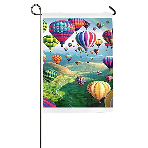(DFGTLY Fashion Personalized Garden Flag,Colorful Ballons Garden Flag-12