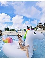 Inflable de Unicornio de hinchable colchonetas para piscina, Juguete para fiesta de piscina con válvula rápida piscina diversión para niños y adultos 200 x 100 x 90 cm