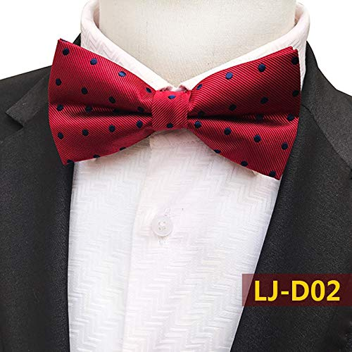 LLTYTE Krawatte Bowtie Silk Men Bowtie Cashew Blumen Fliege Striped Plaid Krawatte Butterfly Shirts Bow Ties - Paisley Silk Bow Tie