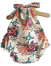 Ropa de bebé,AZXES,Ropa del Boutique del Bebé,el Estilo de la Verano de los Mamelucos del Niñas,Color Beigo