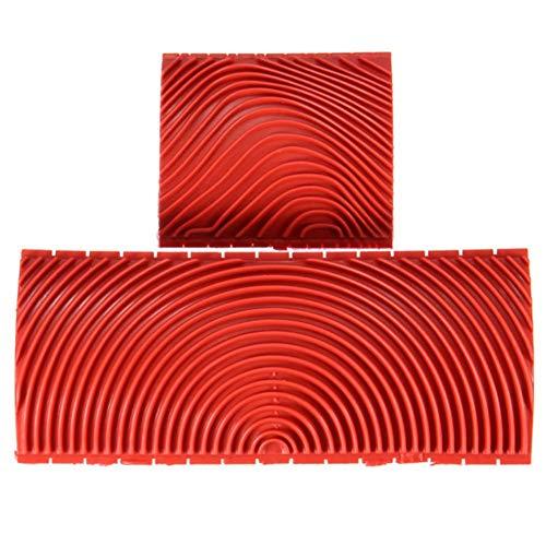 franktea Holzmaserung Werkzeug Nachahmung Design Dekorieren Werkzeug Körnung Gummi Malerei Kunst Farbe Textur Pinsel 3-Zoll 6-Zoll -
