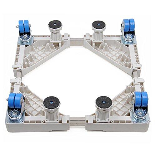 YXF Möbel-Handling Basis Waschmaschine Boden spezielle Rollen Rollen, mobiler Ständer, Feste Höhe Kühlschrank Rahmen, Edelstahlrahmen, 50-74 cm x 45 cm - 68 cm x 9,8 cm - 12,7 cm Wow