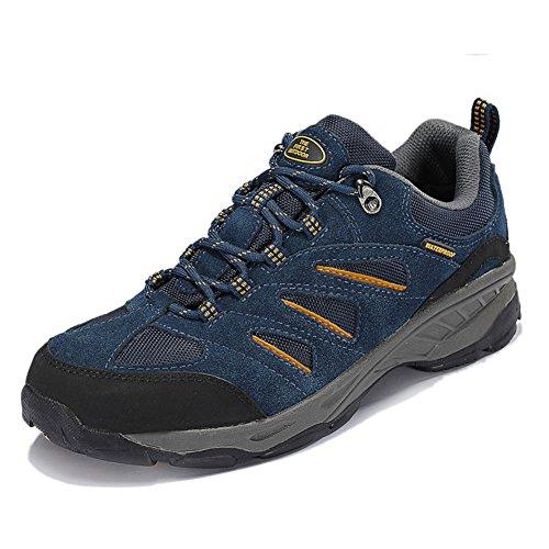 TFO Herren Mid Waterproof Trekkingschuhe & Wanderschuhe Rutschfeste Bergschuhe & Outdoor Schuhe mit Atmungsaktiver Einlegesohle (Besten Sportlichen Wanderschuhe)