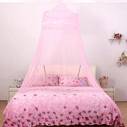 Gaddrt® 1pannello tenda letto baby dome lace zanzariere indoor outdoor play tent baldacchino insetto protezione, rosa, 110x250cm