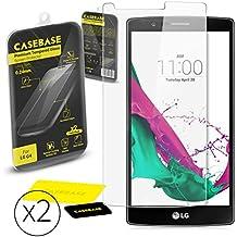 CaseBase® Premium - Pellicola protettiva per Display in Vetro Temperato - Confezione doppia per LG G4 ** Doppio Vetro ** 2 in 1
