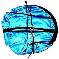 WINOMO 42pulgadas de viento Sail portátil popa emergente Sail para kayak canoa remo windsurf (azul)