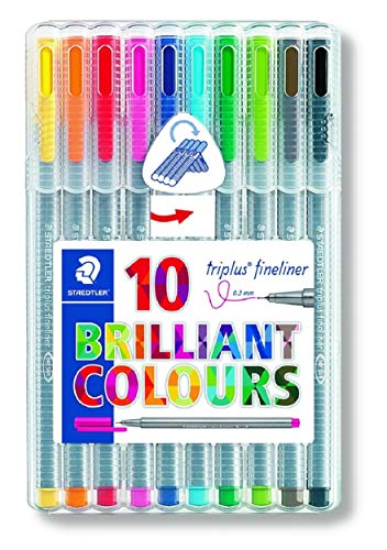 Staedtler 334 Triplus Fineliner Superfine Point Pens, 0.3 mm, Assorted Colours, Pack of 10 Test
