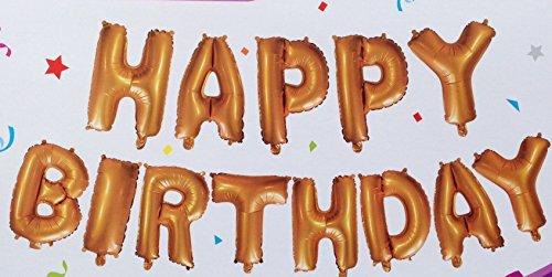 13 Globos de Foil de Aluminio,Feliz Cumpleaños letras del alfabeto