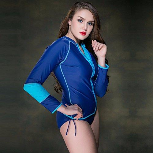 Vêtements d'été maillot de bain grand écran solaire unique de l'ouest à manches longues maillot Sun Services-YU&XIN Blue