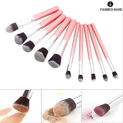 Fashion Base (TM) 10pcs Professional Cosmetic Makeup Kabuki Brushes Set Foundation Eyeshadow Brush