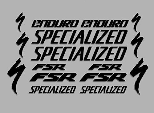 Ecoshirt 60-ZGZB-QLTW Aufkleber FNL Enduro F41 Vinyl Adesivi Decal Aufkleber 353 353 353 MTB Stickers Bike, schwarz -