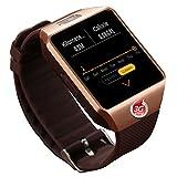 MYJ Smart Uhr Smart Watch Kamera Uhr,Gold,A