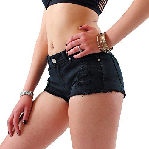 Shorts donna pantaloncini jeans strappati short t-short hot pants cotone corti estivi eeleganti sexy c601