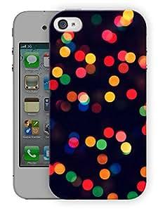 "Humor Gang Light Dots Printed Designer Mobile Back Cover For ""Apple Iphone 4-4S"" (3D, Matte Finish, Premium Quality, Protective Snap On Slim Hard Phone Case, Multi Color)"
