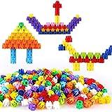 SXZHSM-Juguete de desarrollo intelectual Educación Temprana Hechizo Insertar Bloques De Construcción De Plástico Hexagonal DIY Juegos Infantiles Rompecabezas De Iluminación Bloques De Construcción Jug