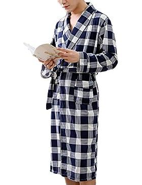 PFSYR Pijamas para hombres/Albornoz fina de manga larga/Bata cómoda y casual Ropa para el hogar