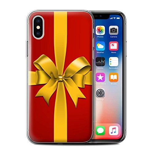 Stuff4 Gel TPU Hülle / Case für Apple iPhone X/10 / Kugel/Baum Muster / Weihnachts Dekoration Kollektion Geschenk