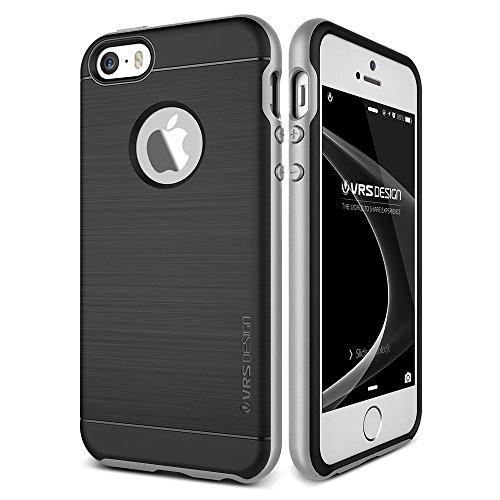VRS Design High Pro Shield Edition Hülle | Apple iPhone 5 / 5s / SE | TPU und Polycarbonat in Light Silver | Zubehör Tasche Case Handy-Cover Schutz-Hülle Schale