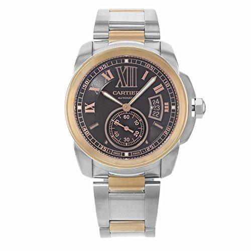 Cartier de calibre w710005018K Rose oro y acero reloj de Hombre Automático