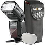 K&F Concept KF-882 Speedlite Flash para Cámara DSLR NIKON Compatible con i-TTL, Sincronización de Alta Velocidad, Maestro y Slave Inlámbrico Modo de Flash M MULTI S1 S2 para Nikon