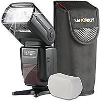 K&F Concept® E-TTL KF-882 Blitzgerät Canon Speedlite Blitz Blitzlicht für Canon mit HSS 1/8000s Masterblitzfunktion Leitzahl 58
