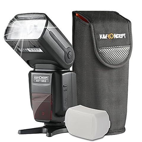 K&F Concept® i-TTL KF-882 Blitz Flash Blitzlicht Blitzgerät für Nikon Kamera Leitzahl 58 mit HSS 1/8000s Masterblitzfunktion