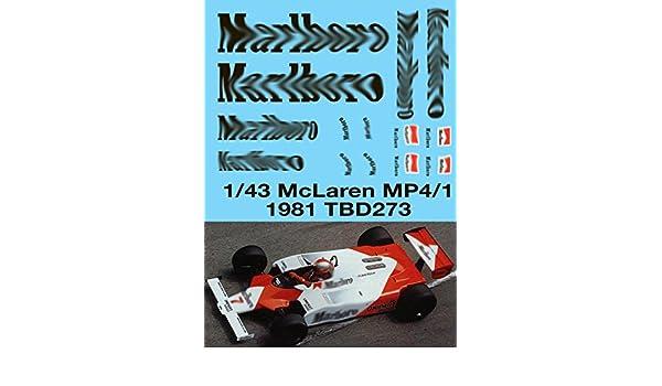 1//43 McLaren MP4//1 1981 F1 Decals TB Decal TBD273