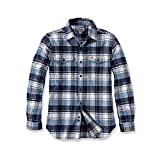 Carhartt Trumbull Slim Fit Flannel Shirt | Steel Blue | Gr. S