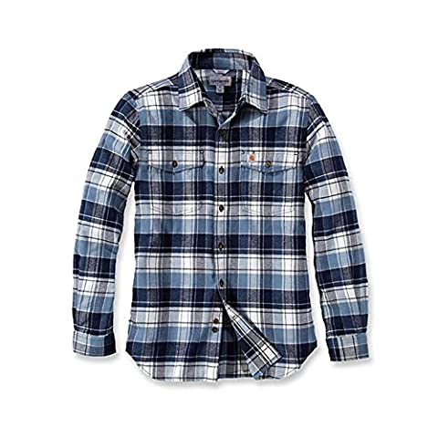 Carhartt Trumbull Slim Fit Flannel Shirt | Steel Blue | Gr. XL (Steel Blue T-shirt)