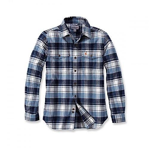 Carhartt Trumbull Slim Fit Flannel Shirt | Steel Blue | Gr. M (Carhartt Shirt Baumwolle Aus)