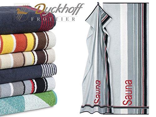 Preisvergleich Produktbild Wellness- und Saunatuch von Dyckhoff - gewebte Motive und dezente Bordürengestaltung - ca. 80 x 200 cm - unterschiedliche Dessins und Farbkombinationen,  Sauna silber