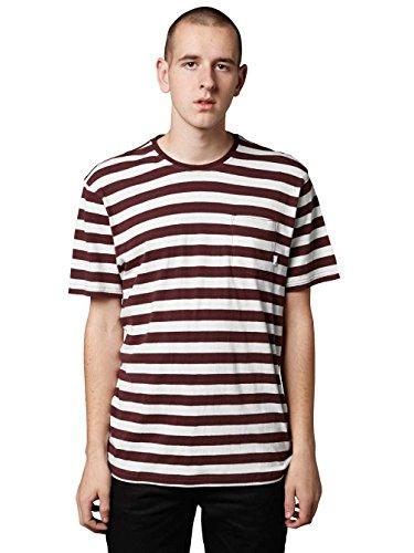 Herren T-Shirt Altamont Cromwell Crew T-Shirt White/Burgundy