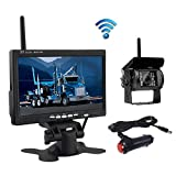 Wireless Reverse Camera, Podofo@ 7' HD TFT LCD Vehicle Rear View Monitor + Waterproof Backup Camera...