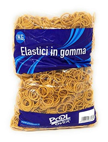 Packung von 1kg von elastische Gummi Ø 5cm m - Medi-packungen