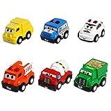 Mini Modèles Véhicules Pull-back Jouets Pour Camions Set Voiture Construction de Travail Jouets pour Les Garçons de 3 Ans et Plus