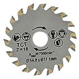 Wuchance 18 Dents Diamètre 54.8mm Lame De Scie Circulaire Béton Ciment Scie À Bois Lame De Scie