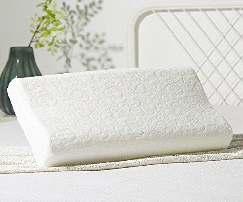 GXSCE Naturlatexkissen, Memory Foam Nackenkissen, Anti-Allergie Staubdicht, Anti-Scratch Kopf Soft Support Comfort Kissen