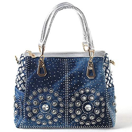 HHdstb Lässige Damen-Tragetaschen Crystal Diamond Women Messenger Bags Handtaschen Damen Taschen -