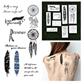 Dreamcatchers & Feathers Temporary Tatto...