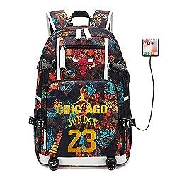 Lorh's store Basketballspieler Star Michael Jordan Multifunktionsrucksack Reisestudent Rucksack Fans Bookbag für Männer Frauen (Stil 1)