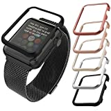 Apple Watch Aluminium Hülle, qualiquipment iWatch Zubehör Case Bumper Cover Schutzhülle 42mm 38mm für Series1, Series2, Series3 (42mm Silber)