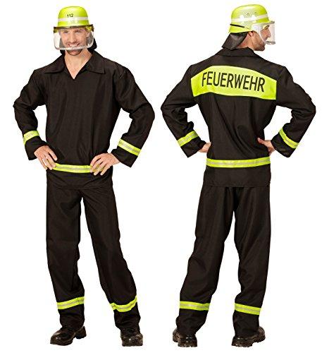 Feuerwehr-Kostüm Herren Gr. L 52/54 Feuerwehr-Mann Fasching Karneval waschbar Polyester
