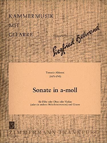 Sonate a-Moll: Violine (Flöte/Oboe) und Gitarre. (Kammermusik mit Gitarre)