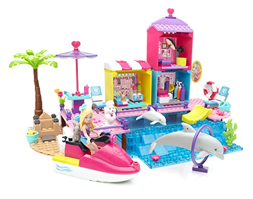 Mega Bloks Barbie Pet Beach Boardwalk Building Set