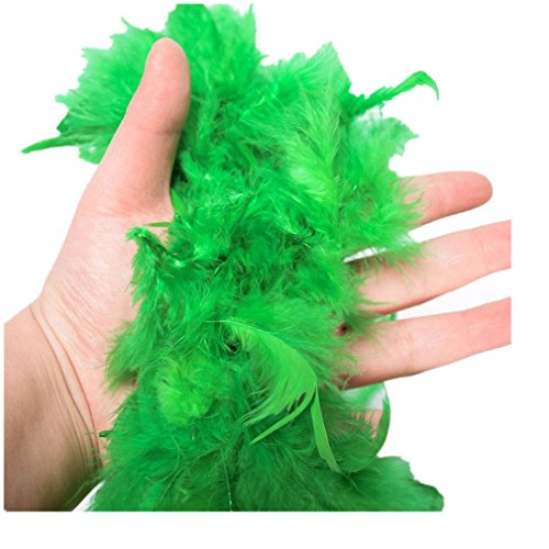 Mode Damen Kostüm Feder Boa Burlesque Showgirl Hen Night Festival Zierschal Ornamental Schal (Green) (Grüne Kostüm Burlesque)