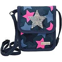 Depesche 10414 Brustbeutel, TOPModel mit Stern aus Streichpailletten, blau, bunt