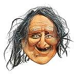LMHSDMJ Halloween Maske Party Gesicht Maskerade Kostüm Gruselige Masken Prop Hässliche Alte Frau Horror Cosplay Child's Play Latex Realistische Gummi